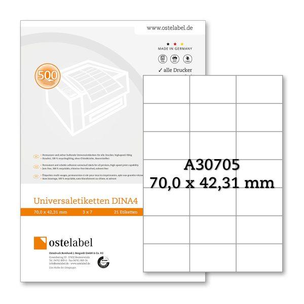 Etikett A30705