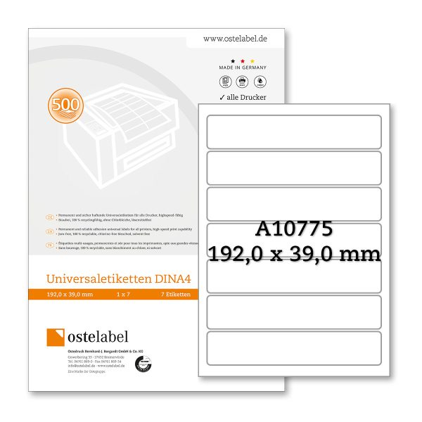 Etikett A10775