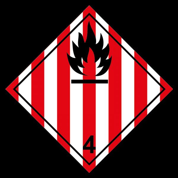 Aufkleber Gefahrgutklasse 4.1