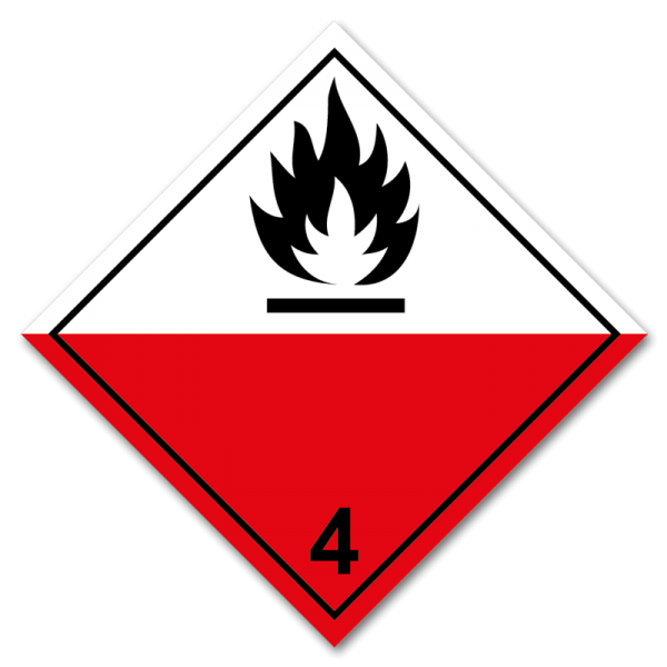 Aufkleber Gefahrgutklasse 4.2