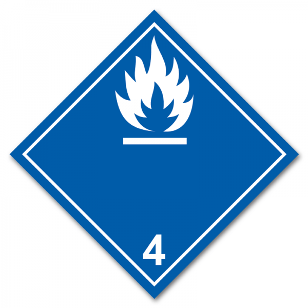 Aufkleber Gefahrgutklasse 4.3