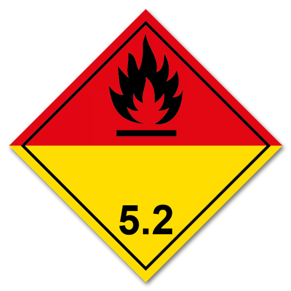 Aufkleber Gefahrgutklasse 5.2
