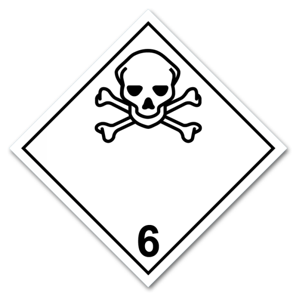 Aufkleber Gefahrgutklasse 6.1