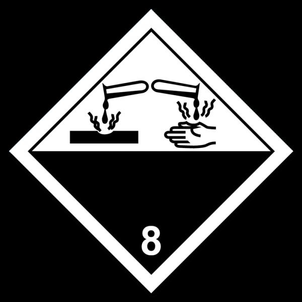 Aufkleber Gefahrgutklasse 8