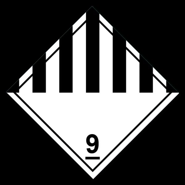 Aufkleber Gefahrgutklasse 9